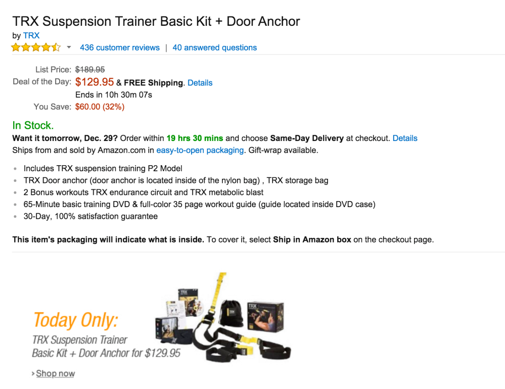 TRX Suspension Trainer Basic Kit + Door Anchor-sale-02