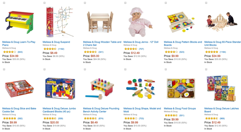 Up to 50% off Select Melissa & Doug Toys