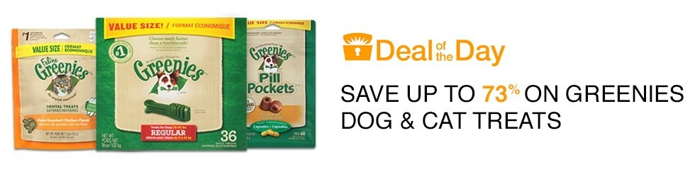 Up to 73% Off Greenies Dog and Cat Treats