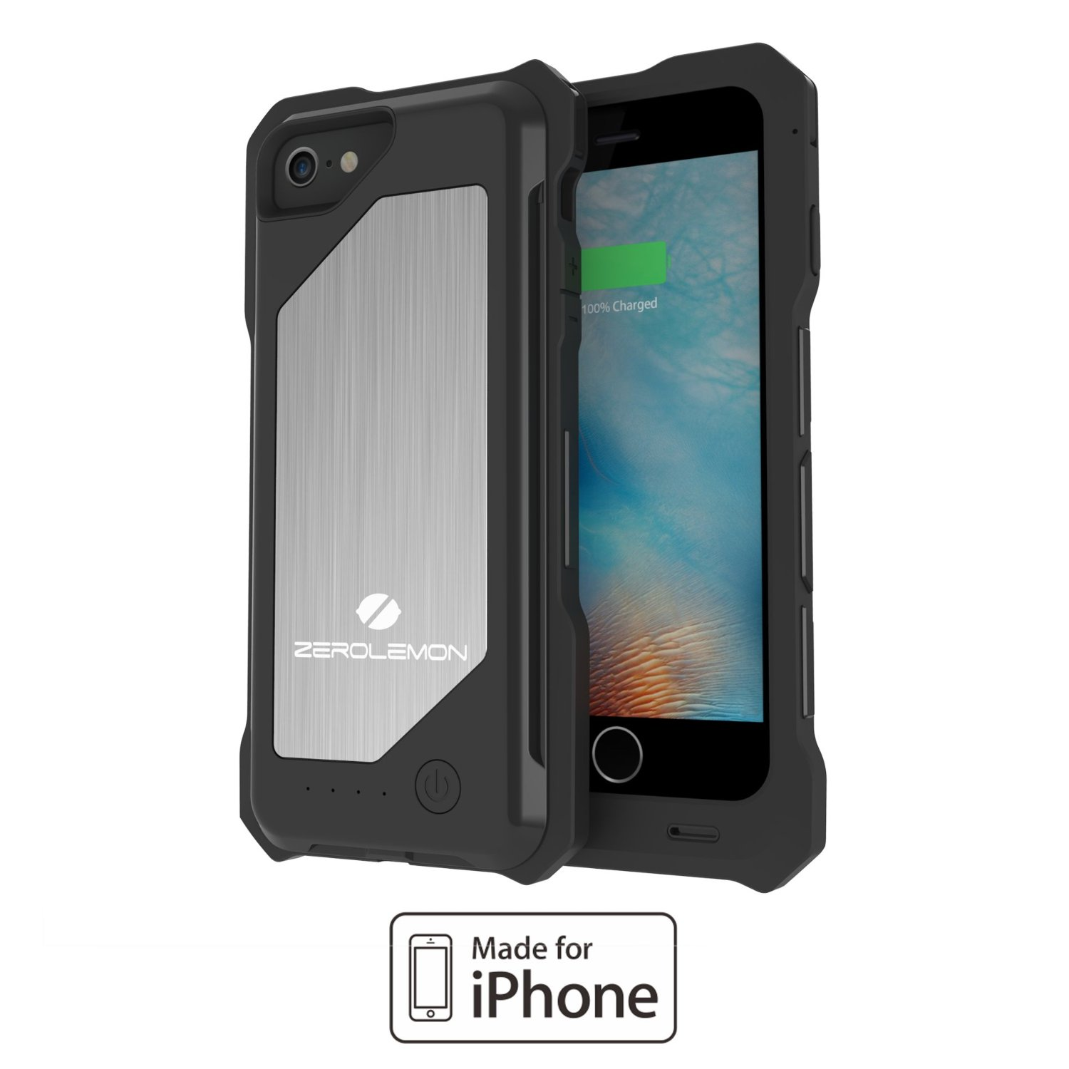 Zerolemon 3500mah Rugged Battery Case For Iphone 6 6s 12