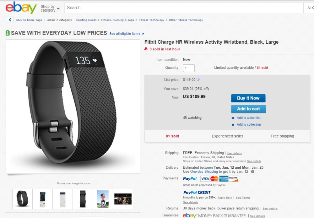 2016-01-09 17_32_20-Fitbit Charge HR Wireless Activity Wristband Black Large _ eBay