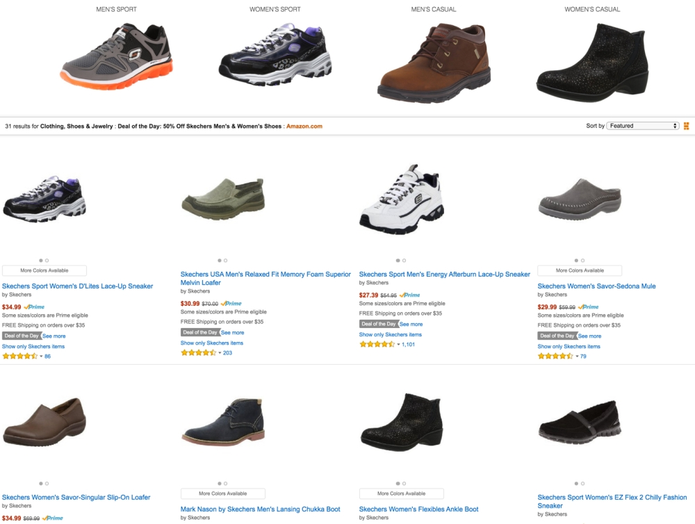 50% OFF SKECHERS DEAL OF THE DAY