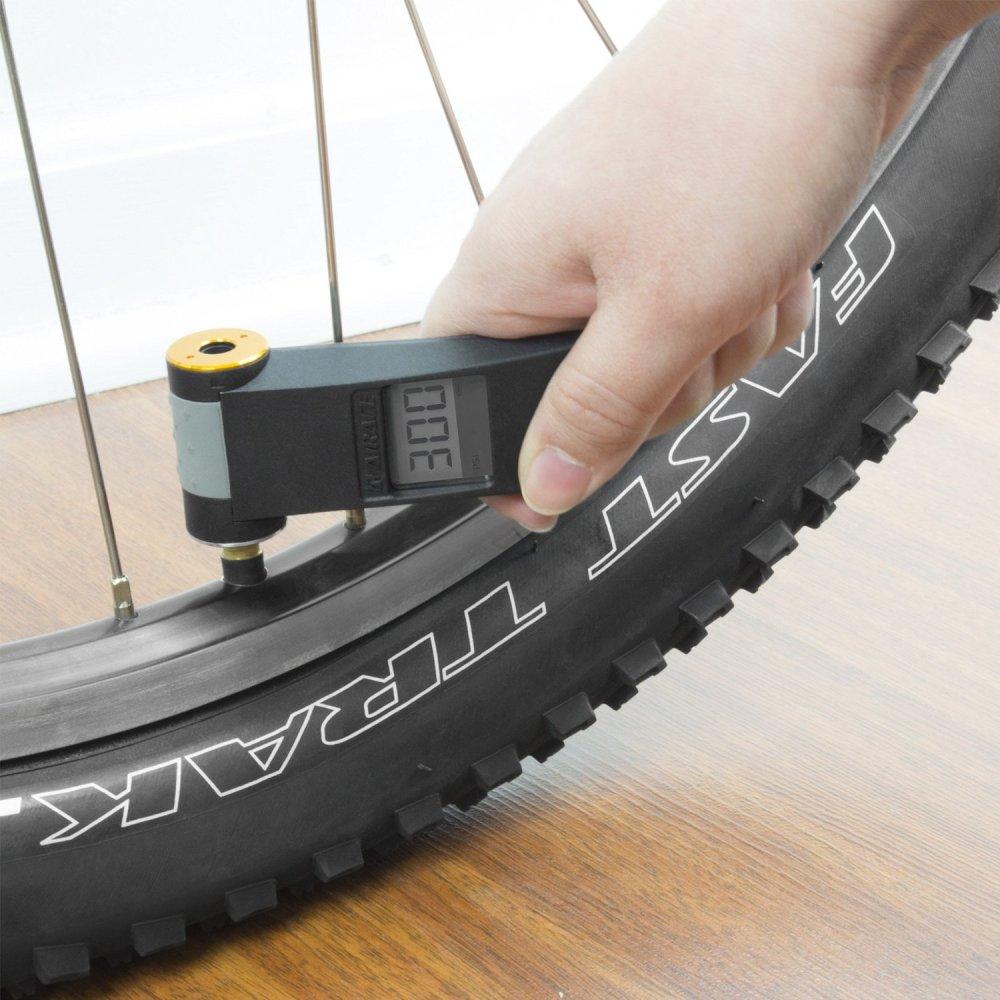 AIRACEUSA Bike High-Tech LCD Digital Tire Gauge