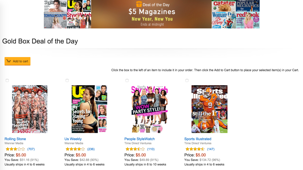 amazon-gold-box-deals-magazine-subs