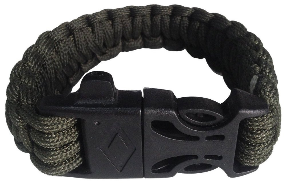 Attmu Outdoor Survival Paracord Bracelet with Fire Starter