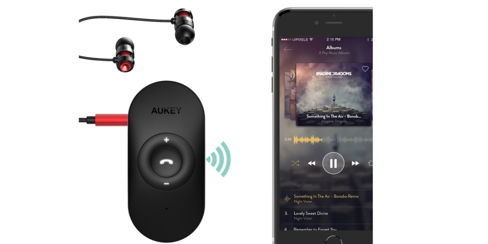 Aukey Portable Wireless Bluetooth 4.1 Audio Receiver Adapter