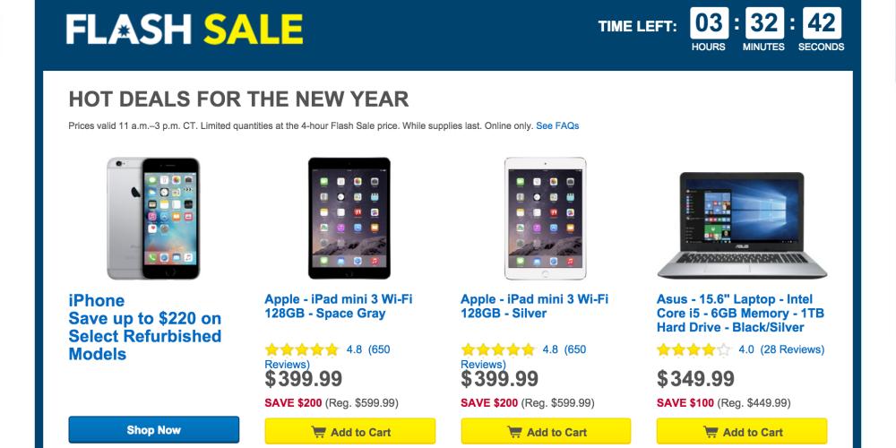 Best Buy-4 hour sale-iPad mini-3