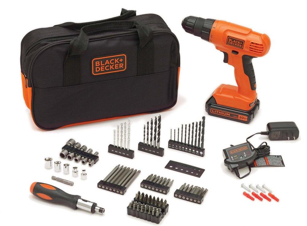 Black & Decker BDC120VA100 20-Volt MAX Lithium-Ion Drill Kit