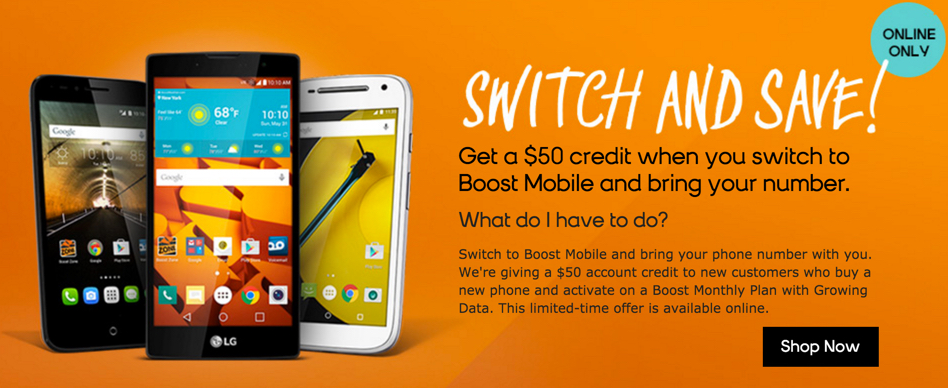 boost mobile $50 offer