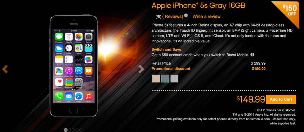 boost mobile offer