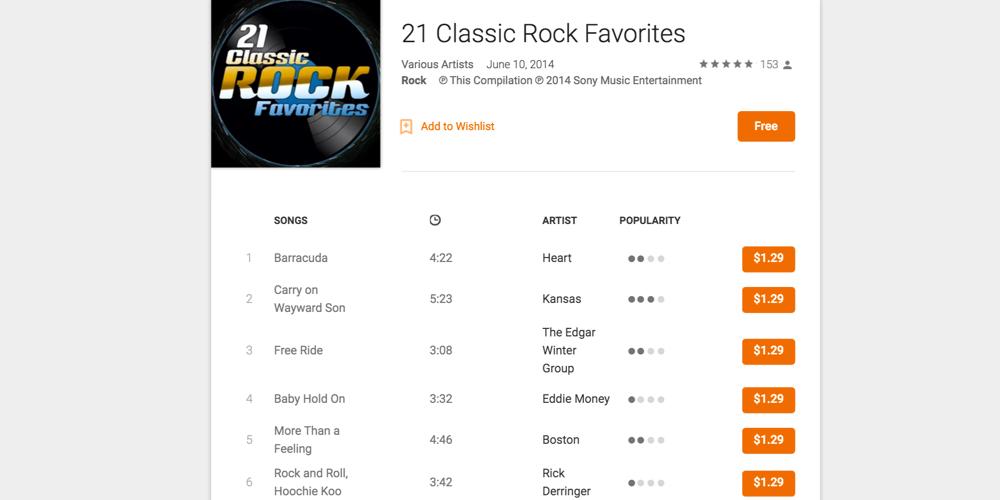 Classic rock playlist free