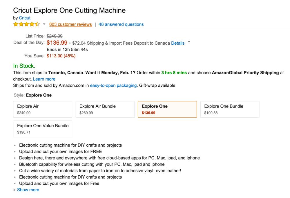 Cricut Explore One Cutting Machine-sale-02