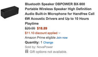 DBPOWER BX-900 Portable Bluetooth Speaker