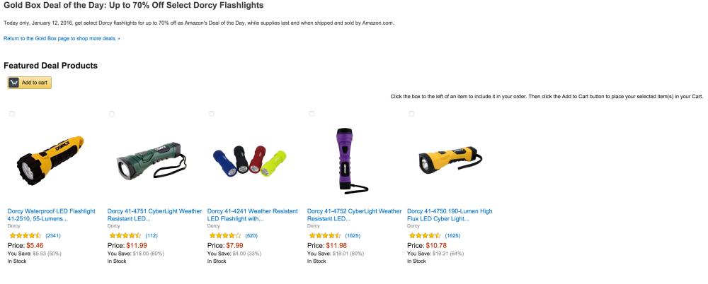 Dorcy 190-Lumen High Flux LED Cyber Light Flashlight in yellow-sale-02