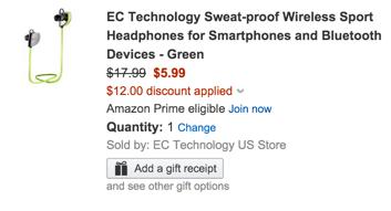 EC Technology Sweat-proof Bluetooth Sport Headphones