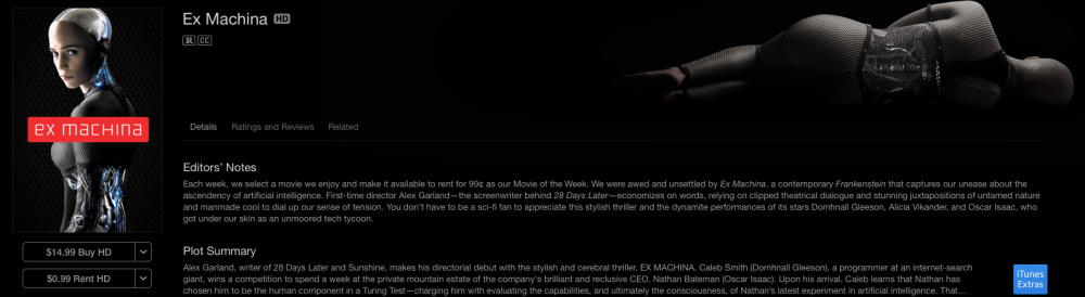 Ex Machina on iTunes