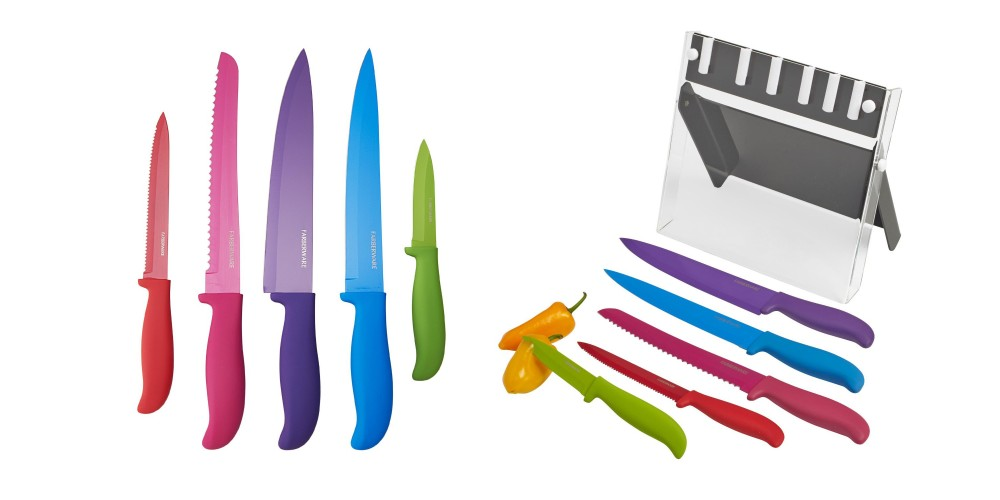 Farberware 6pc Classic Color Series Non-Stick Resin Knife Set-3