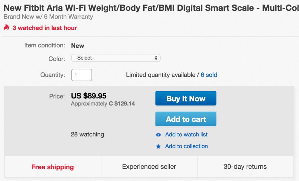 Fitbit Aria WiFi Smart Scale-3