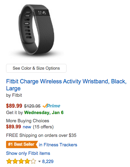 Fitbit Charge Wireless Activity Wristband Amazon