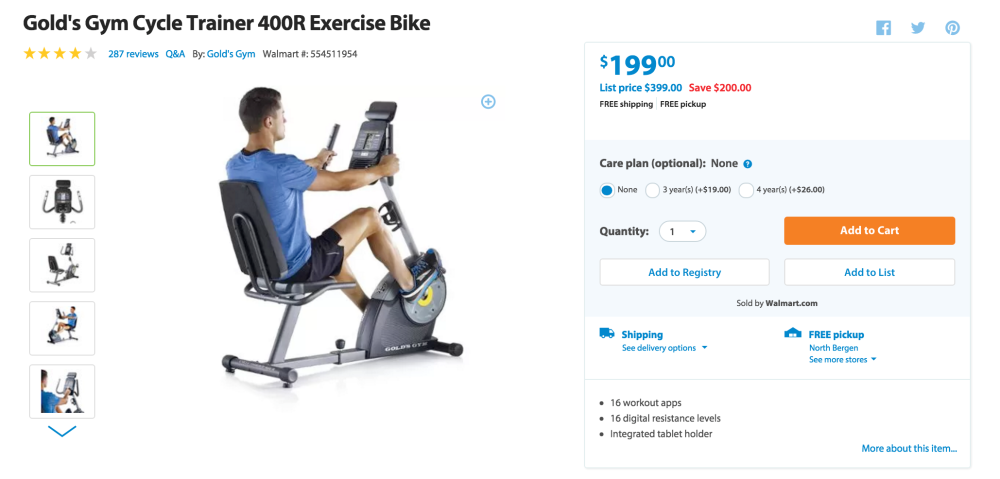Gold's Gym Cycle Trainer 400R Exercise Bike-3