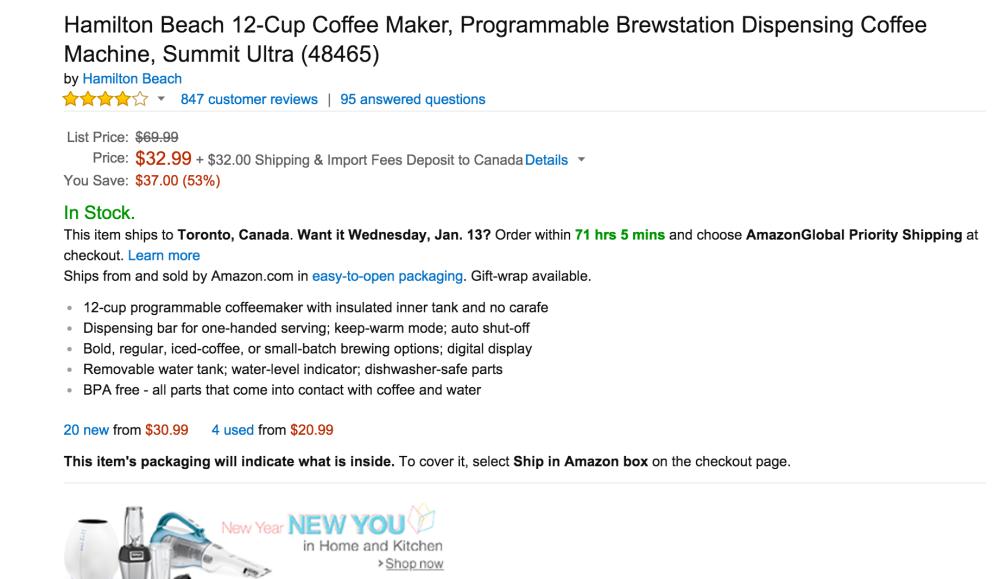 Hamilton Beach 12-Cup Coffee Maker (48465)-5