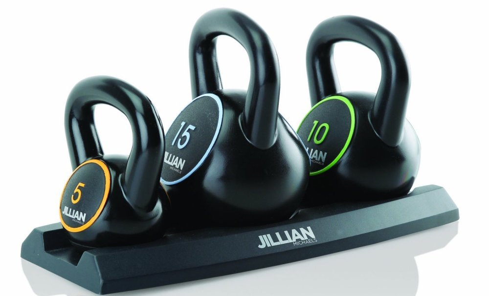 Jillian Michaels Vinyl Kettle Bell Set