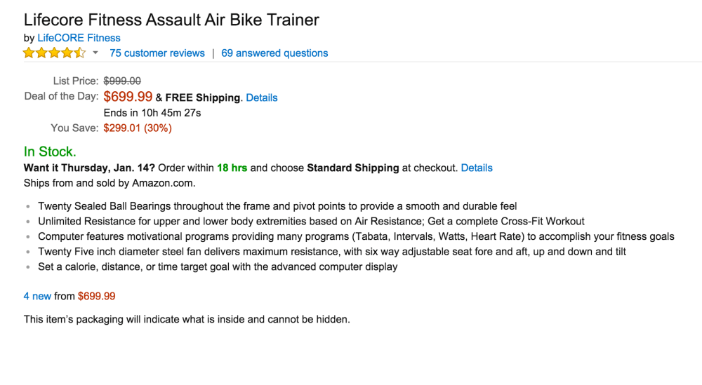 Lifecore Fitness Assault Air Bike Trainer-5