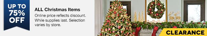 Lowe's 75% off Christmas sale