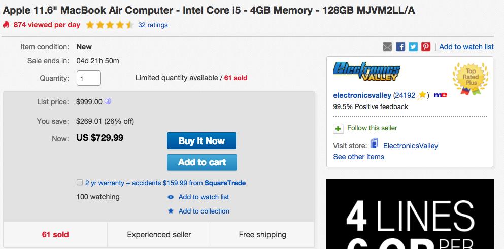 MacBook Air Computer eBay