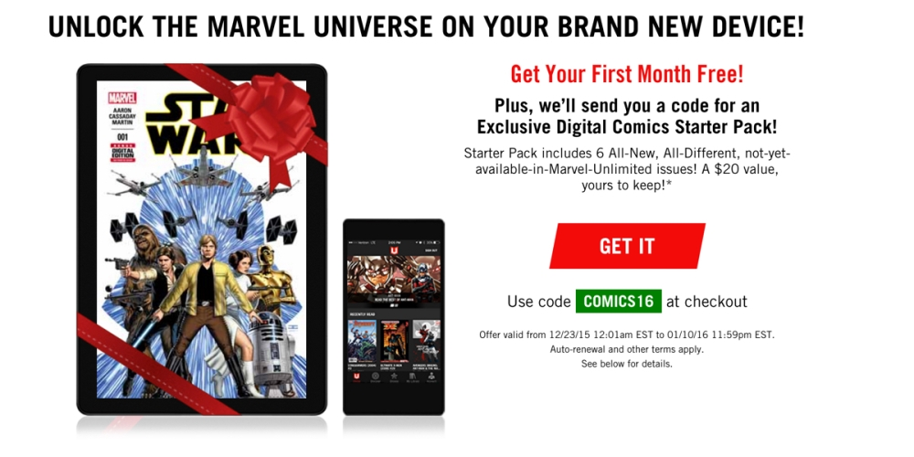 Marvel Unlimited 1 month free