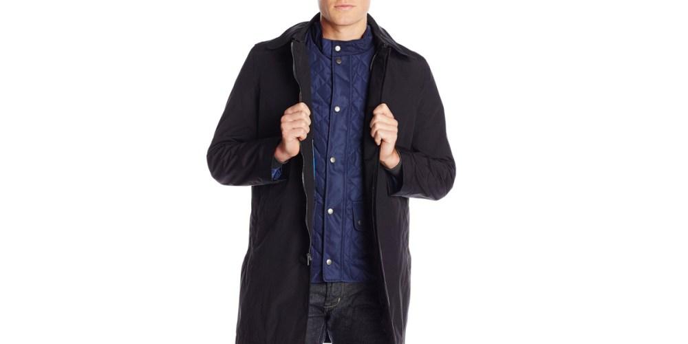 Nautica Men's Camo Raincoat with Removable Vest