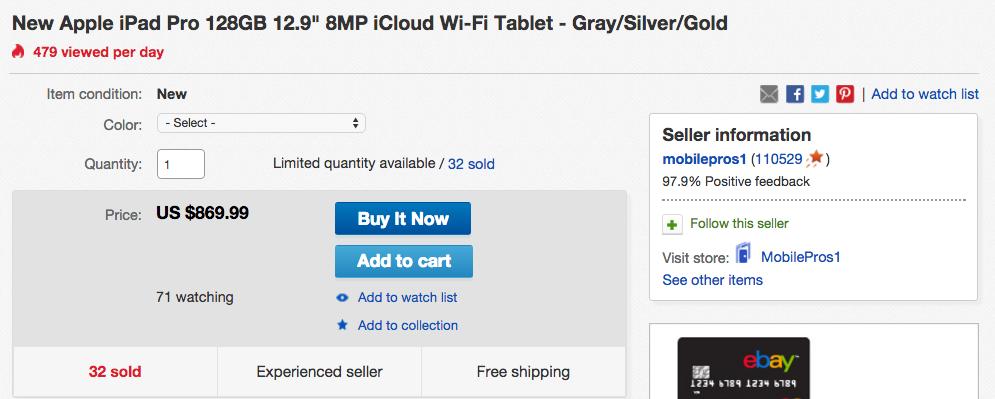 New Apple iPad Pro eBay