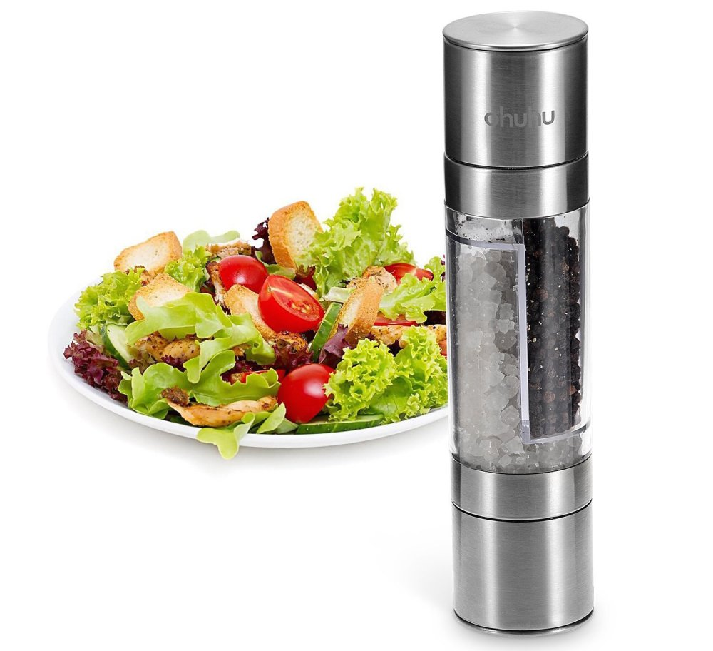 Ohuhu Direct 2-in-1 Salt and Pepper Grinder Mill set