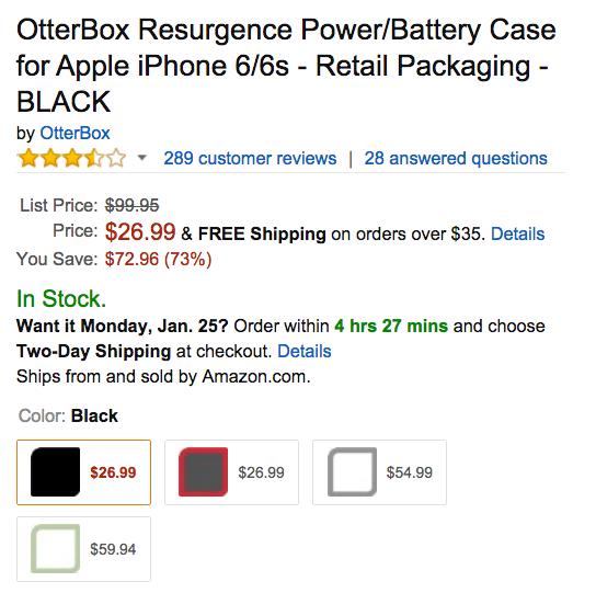 OtterBox Resurgence Power Amazon