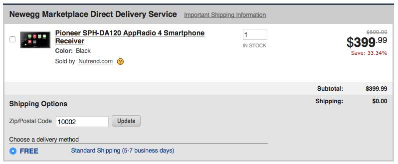 Pioneer SPH-DA120 AppRadio 4 Smartphone Receiver Newegg