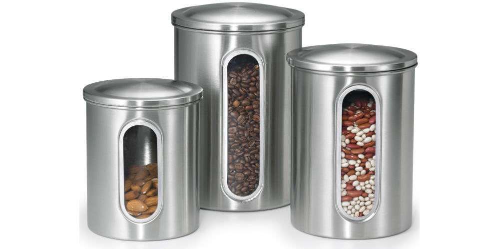 Polder Stainless Steel Window Canister Set with Lids-sale-03