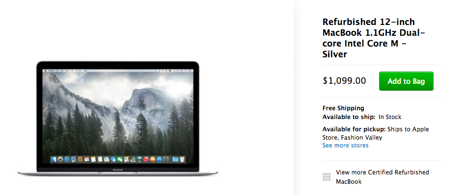 Refurbished 12-inch MacBook