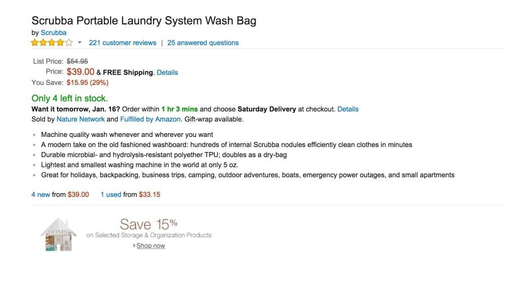 Scrubba Portable Laundry System Wash Bag-3