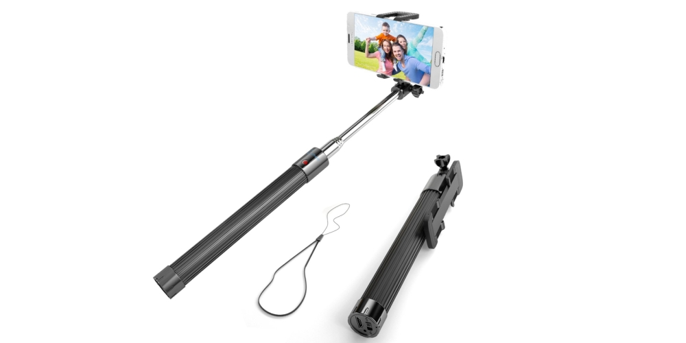 Selfie Stick, Enther® Self-portrait Monopod Extendable Wireless Bluetooth Selfie Stick with built-in Bluetooth Remote Shutter With Adjustable Phone Holder for IOS and Android Devices