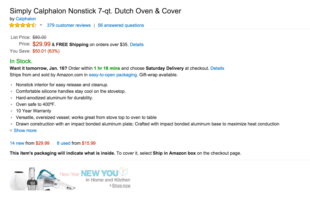 Simply Calphalon Nonstick 7-qt. Dutch Oven & Cover-3