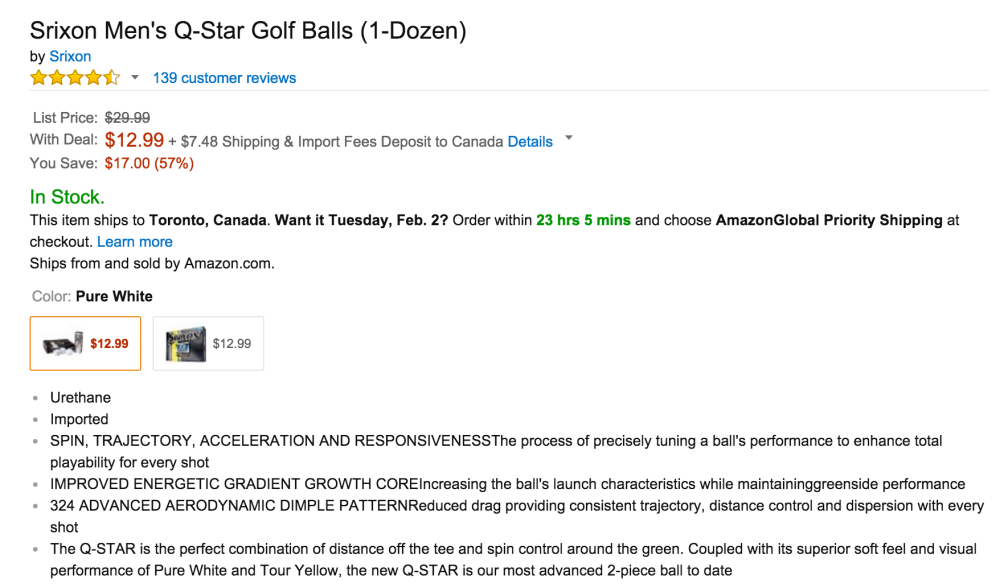 Srixon Men's Q-Star Golf Balls (1-Dozen)-2