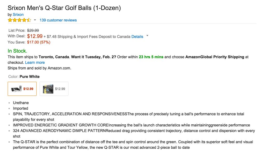 Srixon Men's Q-Star Golf Balls (1-Dozen)-2
