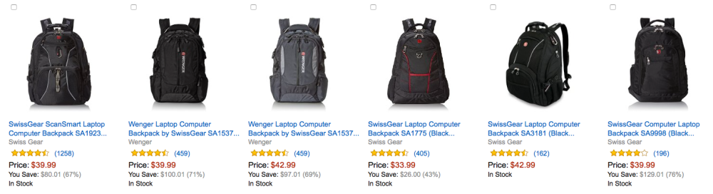 Amazon Gold Box  Top-rated SwissGear Laptop Backpacks up to 60% off ... 8cf28b66f0230
