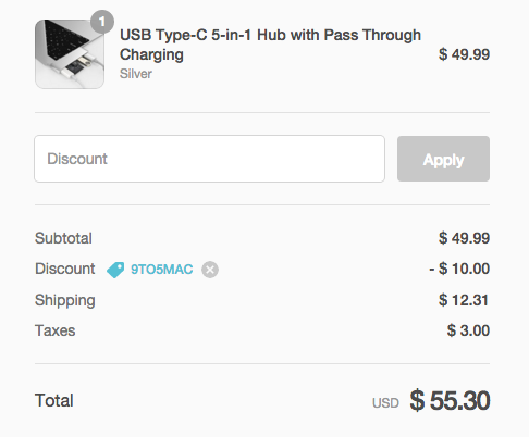 USB Type-C 5-in-1 Hub coupon code