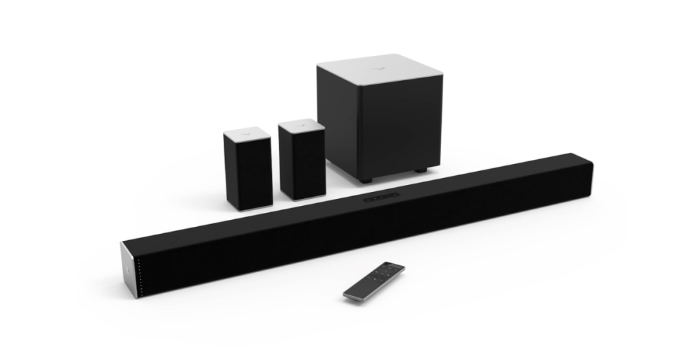 VIZIO 38-inch 5.1 Channel Sound Bar with wireless subwoofer and satellite speakers