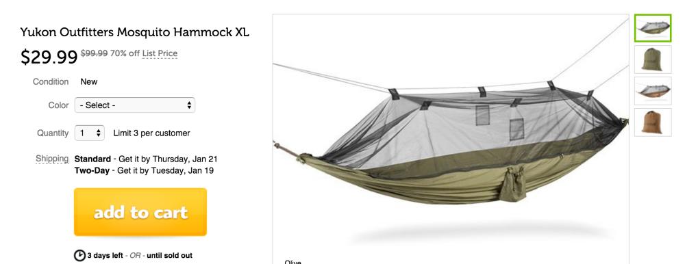 Yukon Outfitters XL Mosquito Hammock-sale-02