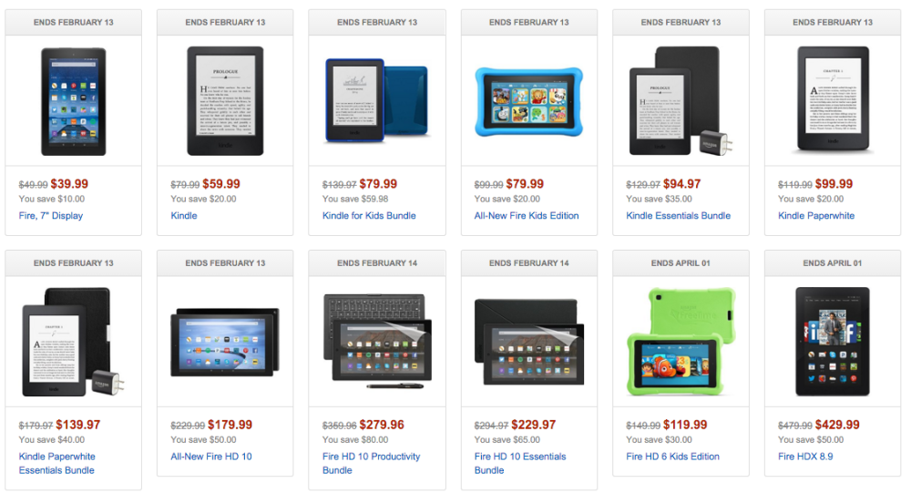 Amazon Fire Kindle Deals