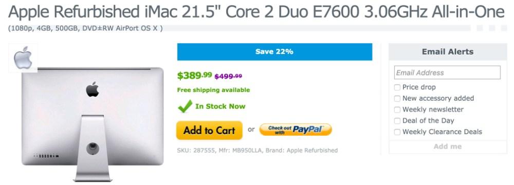 Apple iMac 21.5-inch Core 2 Duo