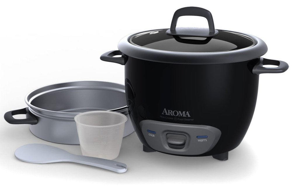 Aroma 6-Cup Food Steamer and Rice Cooker (ARC-743-1NGB)-2