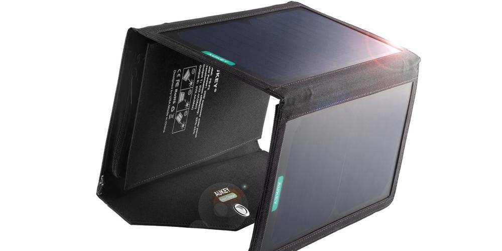 Aukey 20W Dual USB Port Solar Charger